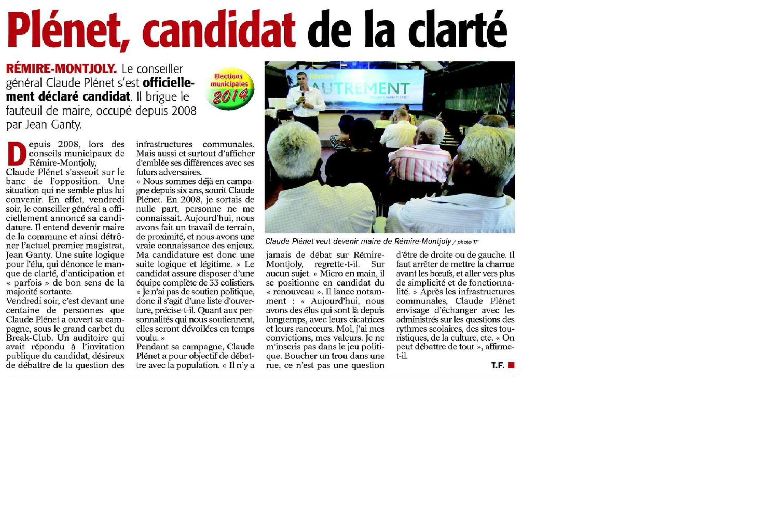 France guyane du 25 novembre 2013 pl net candidat de la for Chambre commerciale 13 novembre 2013